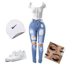 """Untitled #32"" by dessiesanchez on Polyvore featuring NIKE"