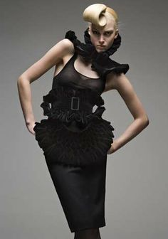 Ruffled Black Dresses