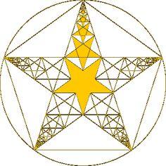 Mandalas basés sur Phi, le ratio d'or et les nombres de Fibonacci