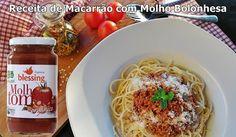 Receita de Espaguete sem Glúten ao Molho Bolonhesa Orgânico! Confira no link!   Conheça o molho orgânico desta receita aqui: http://www.blessing.com.br/MolhoTomateOrganicoTradicional330/