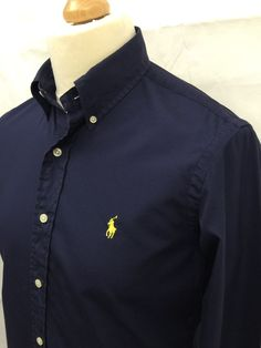 £35 Polo  RalphLauren  Mens  Shirt Small Custom Fit Plain Navy Cotton   menswear  mensfashion  mensstyle  macmenswear 9bb71d184df3
