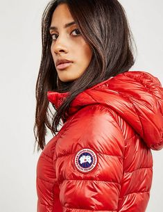 Canada Goose Hybridge Lite Hood Padded Jacket - available at Tessuti, the luxury designer retailer for Men, Women and Children. Canadian Goose Coat, Teen Girl Parties, Canada Goose Women, Goose Clothes, Down Puffer Coat, Puffy Jacket, Outdoor Wear, Padded Jacket, Lazy Outfits