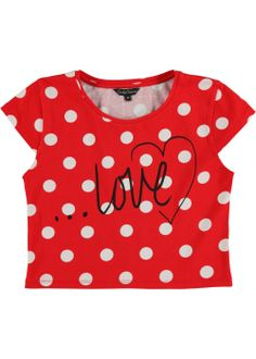 c99f0e92067ee Girls Candy Couture Spot Print Crop Top (8-16yrs) - Matalan Matalan