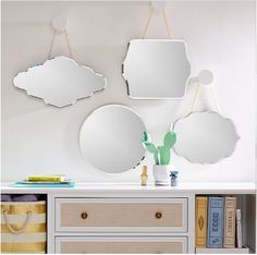 Shop Looking Glass Diamond Mirror. Our Glass Mirror is available in a variety of different shapes and styles, so you can find one that reflects your mood perfectly. Kids Mirrors, Round Mirrors, Glass Mirrors, Mirror Shapes, Mirror Set, Bathroom Kids, Kids Decor, Home Decor, Country Primitive