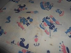 Vintage Fabric Feed Sack Fabric 1930s Fabric Cotton by rpreserved