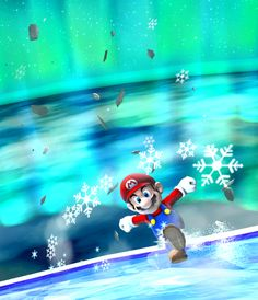 Super Mario Galaxy - Mario ice scating