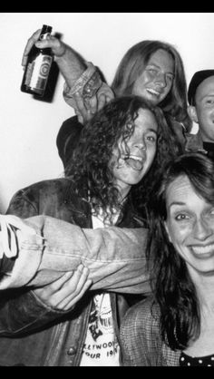 Jerry, Mike, with Susan Silver in the front. Happy Birthday Mike, Mike Inez, Mike Starr, Mike And Mike, Big Box Braids, Jerry Cantrell, Mad Season, Best Ups, Greatest Rock Bands