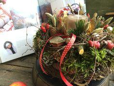Eine Krone für den Advent....-Tischkranz von FRIJDA im Garten - Aus einer Idee wurde Leidenschaft auf DaWanda.com
