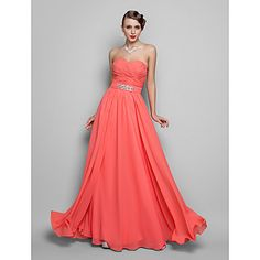 TS+Couture®+Prom+/+Formal+Evening+/+Military+Ball+Dress+-+Open+Back+Plus+Size+/+Petite+A-line+/+Princess+Strapless+/+Sweetheart+Floor-length+Chiffon+–+GBP+£+59.03