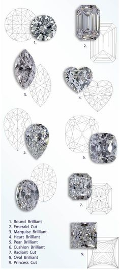 9 famous diamond shapes: