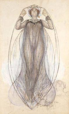 "Карл Ларссон. ""Драма"", 1907 год / Art Nouveau - ""Dramat"" by Carl Larsson 1907"