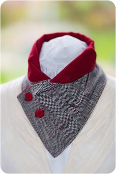 Scarf neck warmer accessory 100% wool tweed fully lined by HSbyHS