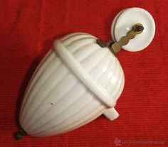 CONTRAPESO PARA LÁMPARAS DE SUBE Y BAJA DE PORCELANA BLANCA (Antigüedades - Iluminación - Lámparas Antiguas)