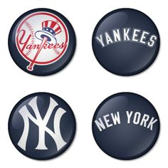 "New York Yankees MLB 1.75"" Badges Pinbacks, Mirror, Magnet, Bottle Opener Keychain http://www.amazon.com/gp/product/B00K4514LK"
