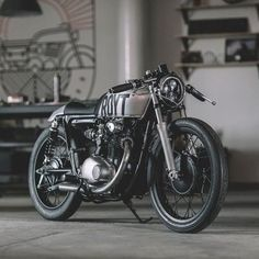 "equestriagardens: ""Cafe racer for ever "" www.oldschoolbikes.tumblr.com"