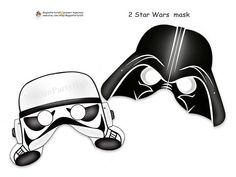 Amazing Star Wars Printable Masks,Darth Vader,Storm Trooper,masks,star wars birthday,decoration,party decoration,photo prop,paper goods on Etsy, $3.90
