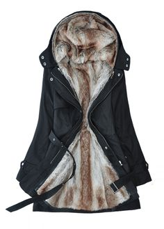 Cheap Detachable Plush Liner Thick Cotton Windbreaker Jacket Coat For Big Sale!Detachable Plush Liner Thick Cotton Windbreaker Jacket Coat, enable you feel warm in the cold weather, allowing you to enjoy the elegant and romantic in winter. Look Fashion, Autumn Fashion, Womens Fashion, Fashion Trends, Fashion Coat, Fashion Clothes, Korean Fashion, Party Fashion, Coatdress