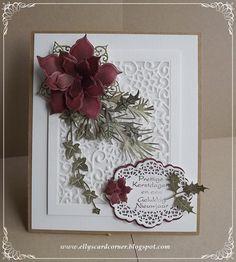 Elly's Card- Corner: Prettige Kerstdagen en een Gelukkig Nieuwjaar.