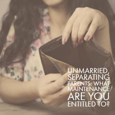 Parents who are not married are often unaware that there is scope for receiving or paying maintenance for children should they separate. Separated Parents, Act For Kids, Divorce, Parenting, Children, Blog, Young Children, Boys, Kids