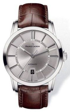 1559da970 Maurice Lacroix Watch Pontos Round Gents #bezel-fixed #bracelet -strap-leather