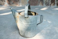 Vintage Galvanized Watering Can by NoriSoapworks on Etsy
