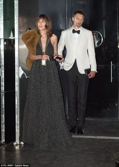 Still going strong: Alexa Chung, 33, and Alexander Skarsgard, 40, proved they were still going strong as they left a Met Gala afterparty together in New York on Monday