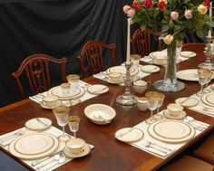 Lenox - Tuxedo china with Towle - Old Master silver