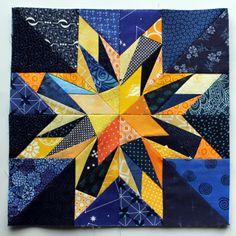 modern scrap quilt block