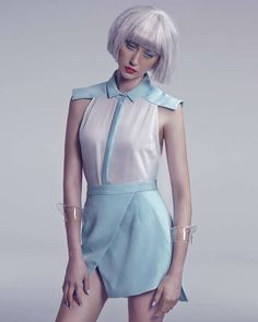 Plasticized Pastel Editorials - This Institute Magazine Editorial is Wonderfully Wigged Out (GALLERY) Pastel Fashion, Trendy Fashion, Fashion Models, Fashion Wigs, Beauty Photography, Editorial Photography, Fashion Photography, Magazine Editorial, Editorial Fashion