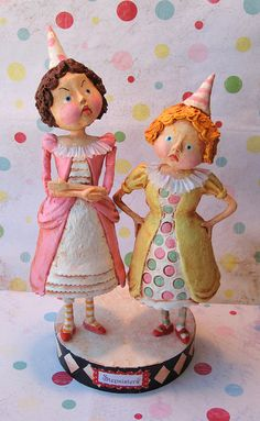 *PAPER CLAY ~ Wicked Stepsisters by thepolkadotpixie, via Flickr