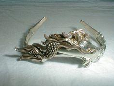 vintage silver cloud southwestern mermaid by qualityvintagejewels