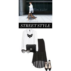 Street style 13 by madeinmalaysia on Polyvore featuring polyvore, fashion, style, H&M, Alice + Olivia, Forever 21, L.Credi, Style & Co., Prada and StreetStyle