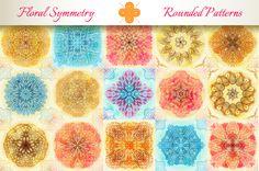 15 Floral Symmetry Patterns. Set #4 by Patternalized on Creative Market