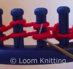 Loom Knitting Stitch Pictorial - MacPherson Arts & Crafts