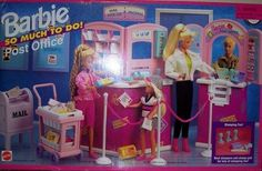 Barbie Post Office So Much to do Playset 1995 New   eBay