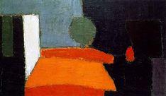 'Nocturne' (1950) by Russian-French artist Nicolas de Staël (1914-1955). Oil on canvas, 39.25 x 58 in. via artnet