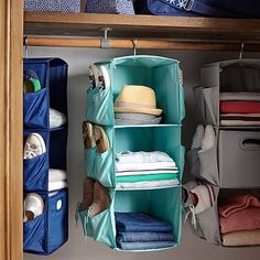 Rotating Hanging Closet Storage #pbteen
