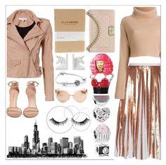 """Moto jacket"" by bartivana ❤ liked on Polyvore featuring IRO, Raoul, Nicki Minaj, Stuart Weitzman, Chanel, Pandora and Linda Farrow"