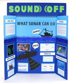 Make a Science Fair Project about How Sonar Works | Submarine Sonar Science Poster Ideas for Kids