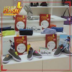 Tênis de várias marcas e modelos na promoção Liquida Flash.  Tinha que ser Creativity Store!