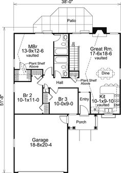 1100 Sq Ft House Plans traditional style house plan - 2 beds 2 baths 1100 sq/ft plan #25