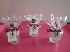 """Bachelorette gifts- added a few things to my gift boxes.... shot glass, mini liquor bottle, hand sanitizer, bachelorette lotto card, & """"bachelorette party"""" mints"""
