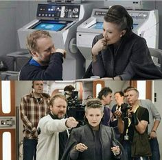 """Behind the scenes of The Last Jedi ~ General Organa"""