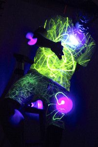 Hem Haus - invented a special glow in the dark fabric that lights up with a special pen when activated