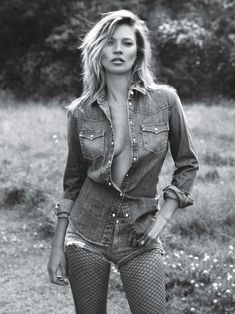 Super Normal Super Models - Kate Moss Denim