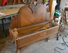 Hometalk | Repurposed Old Headboard Makes Charming Bench I WOULD ALSO MAKE STORAGE AREA