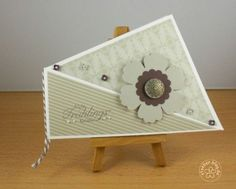 stampin up, easter, twist fold card
