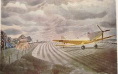 Eric Ravilious, Fairey Battle Last seen in whereabouts unknown. New Artists, British Artists, Art Society, Photography Illustration, Royal College Of Art, Military History, Painting & Drawing, Watercolor, Drawings