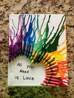 Melted crayola art crafts pinterest crayola art my for Melted crayon art with quotes