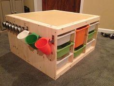 Auf der Suche nach mehr Stauraum und Ordnung im Kinderzimmer, bin ich auf die Trofast Serie von Ikea gestoßen (auch sehr gut gebraucht bei eBay Kleinanzeigen zu bekommen). Eine Kombination aus zwei Regalen ergibt nicht nur eine Menge Stauraum, sondern zudem eine große Spiel- und Arbeitsfläche. Eisenbahnen, Bauernhöfe und Co. können darauf aufgebaut werden, es kann gepuzzelt, gebastelt oder gemalt werden, sie kann zum Piratenschiff, zum Klettergerüst oder zum Fuchsbau werden. Ihr schafft in…
